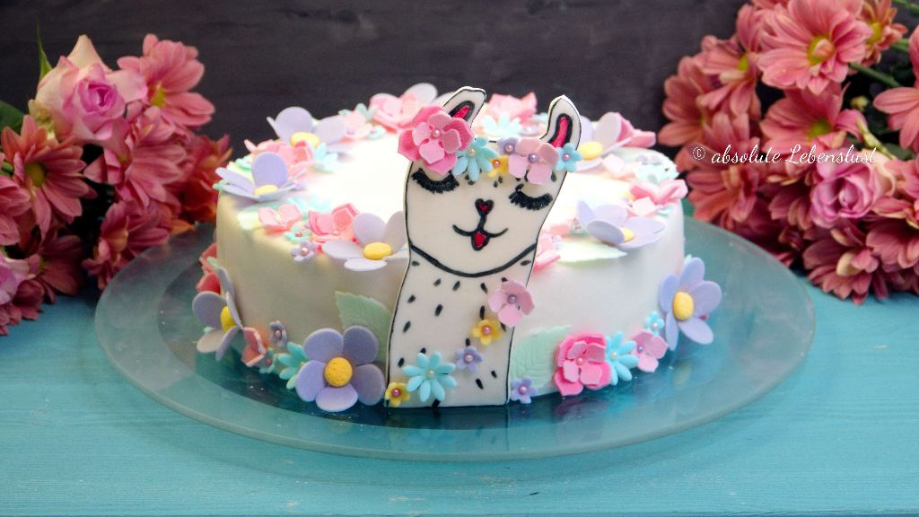 Lama Torte, Lama Fondant Torte, Fondant Lama, Geburtstagstorte, für Mädchen, selber backen, backen, rezept,r ezepte, selber machen