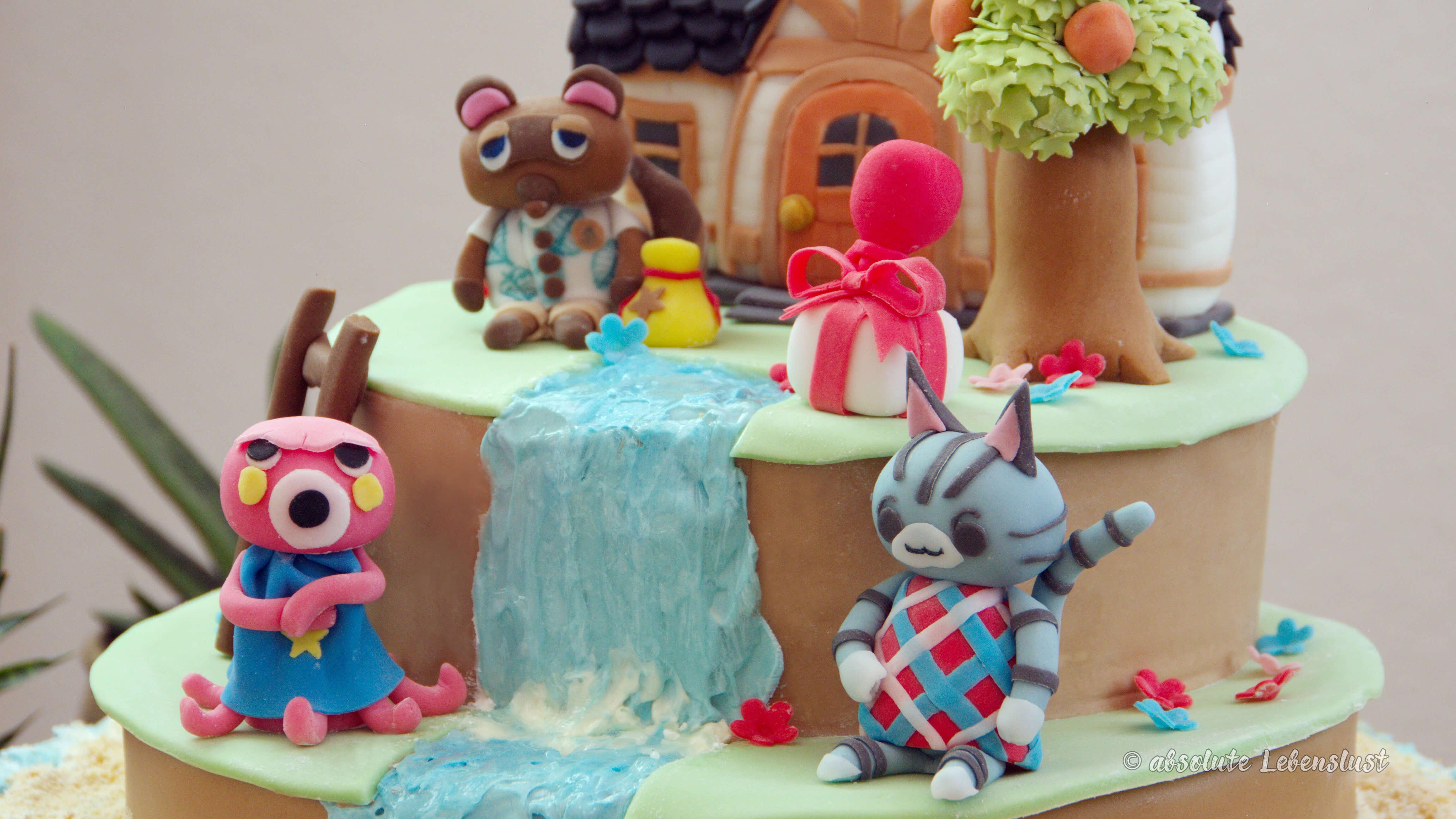 animal crossing, geschenke, geburtstagstorte, für jungs, für mädchen, für kinder, nintendo, torte, motivtorte, fondant