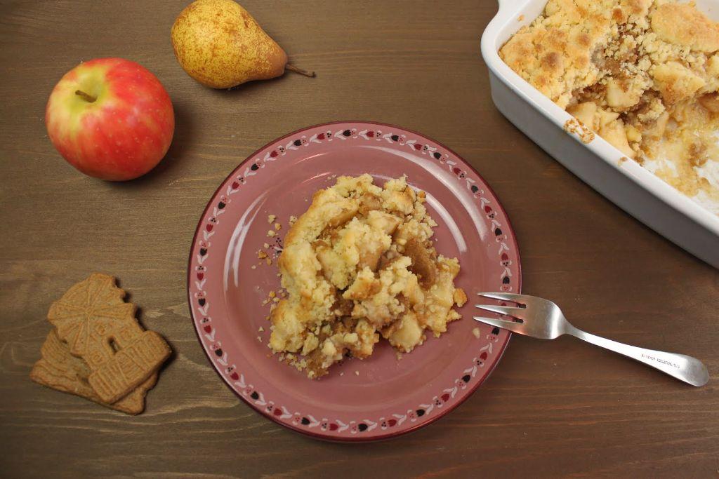 apfel crumble, apple crumble, rezepte, rezept, backen, selber machen, dessert, spekulatius, crumble