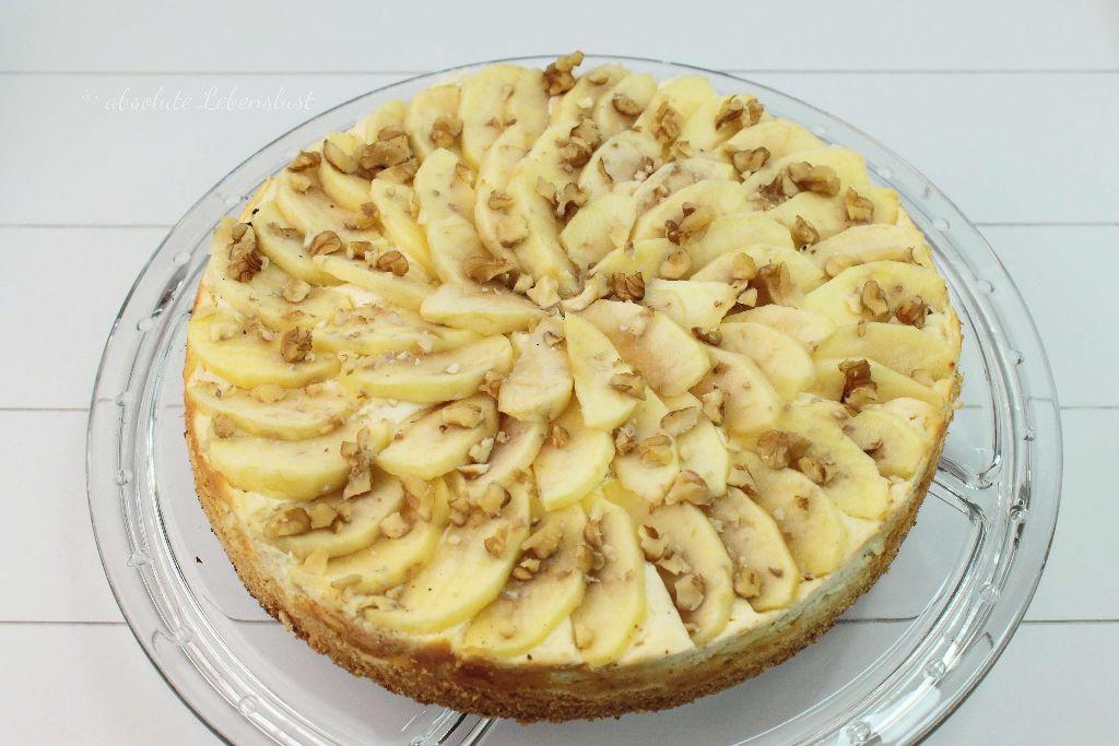 Apfel Quark Kuchen Schnelle Einfache Apfelkuchen Backen