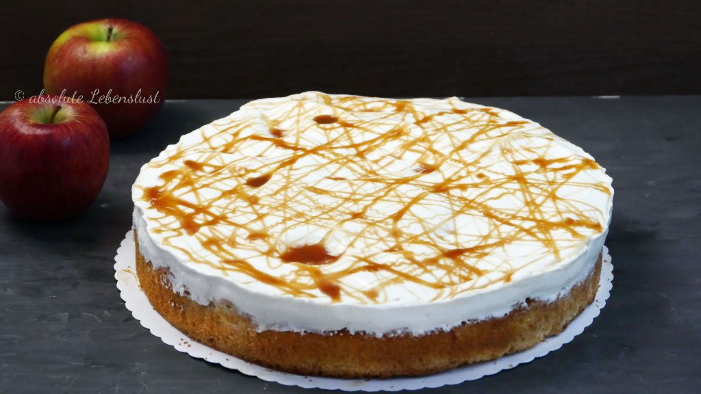 Apfel Karamell Kuchen Backen Apfelkuchen Rezept Mit Schmand