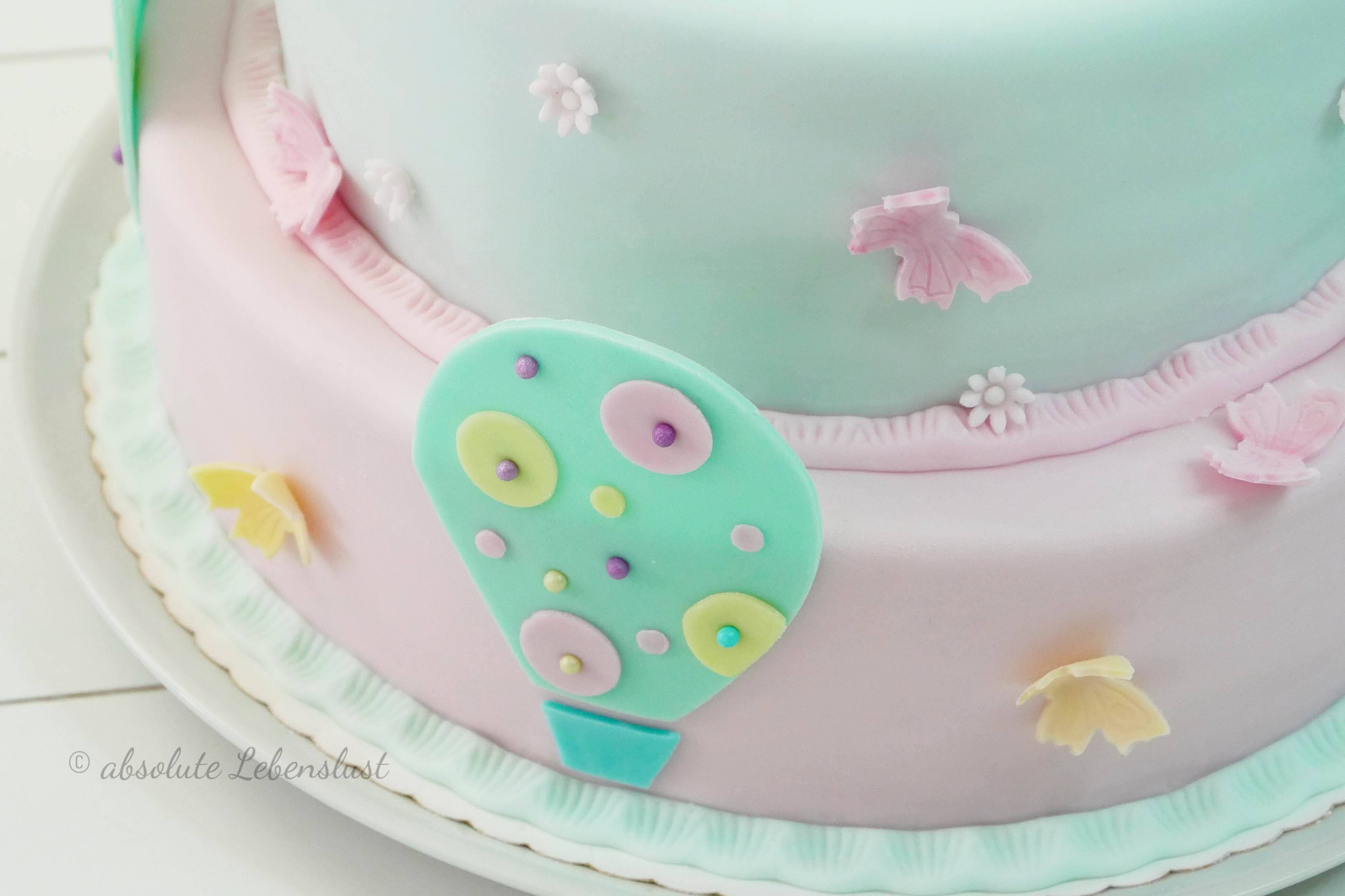 ballon torte, heißluftballon torte, balloon cake, backen, motivtorte selber machen, motivtorte backen