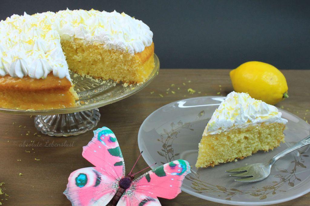 Buttermilch Zitronenkuchen Mit Lemon Curd Baiser Absolute Lebenslust