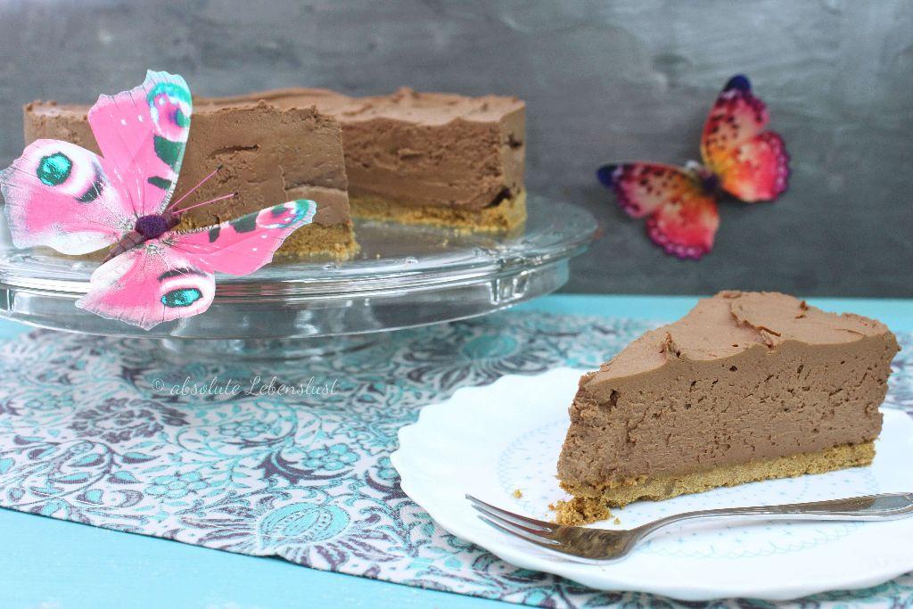 chocolate cheesecake ohne backen, kühlschrank käsekuchen, kühlschrank torte, no bake torte, rezept, rezepte, selber machen