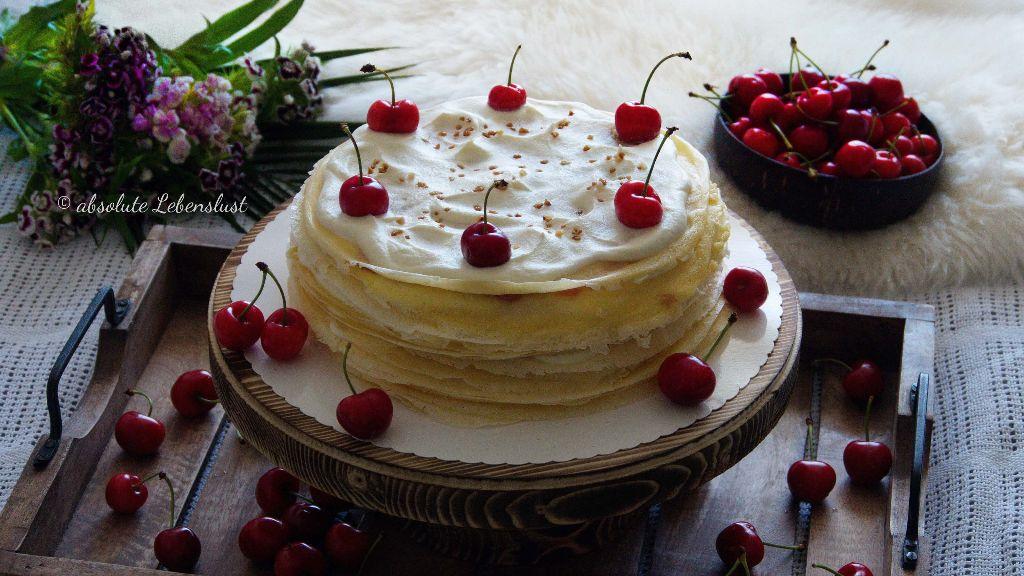 crepes torte, crepes kuchen, mille crepe, mille crepes, torte, kuchen, pfannkuchen torte, rezept, selber machen