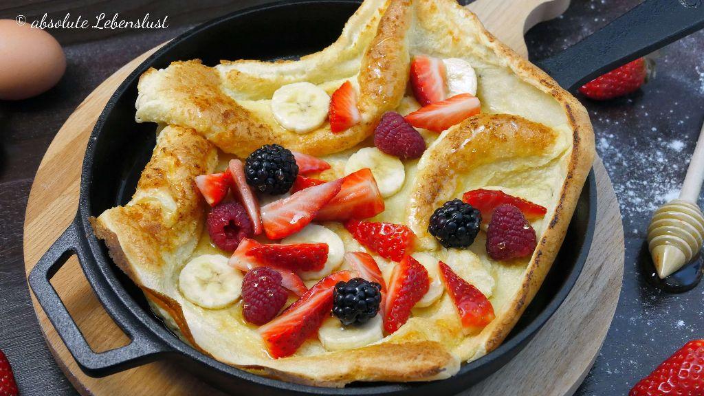 dutch baby rezept, ofen pfannkuchen, pfannkuchen aus dem, ofen, backofen, sonntagsfrühstück, frühstücksrezepte, frühstücks rezepte