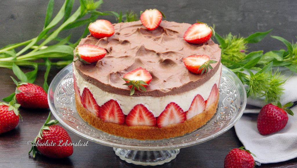 erdbeertorte, ohne gelatine, erdbeerkuchen, mit pudding, backen, tortenrezepte, torten selber machen