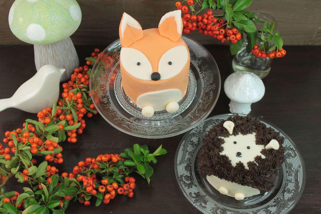 fuchs torte, fox cake, fondant torten, fondant torten dekorieren, törtchen backen, kleine kuchen backen, rezepte, rezept, mit video