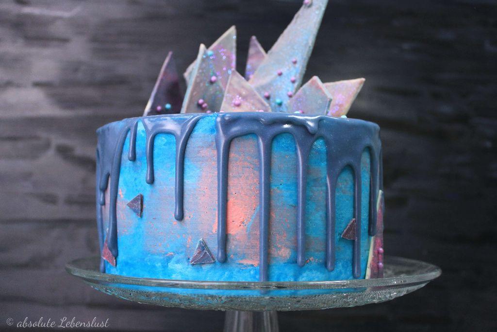 galaxy cake deutsch, drip cake deutsch, galaxy cake, torten ohne fondant, torten selber machen, geburtstagstorte backen