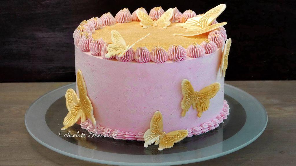 geburtstagstorte, backen, rezept, anleitung, selber machen, ohne fondant, buttercreme, rosa, pink, für mädchen, geburtstagskuchen