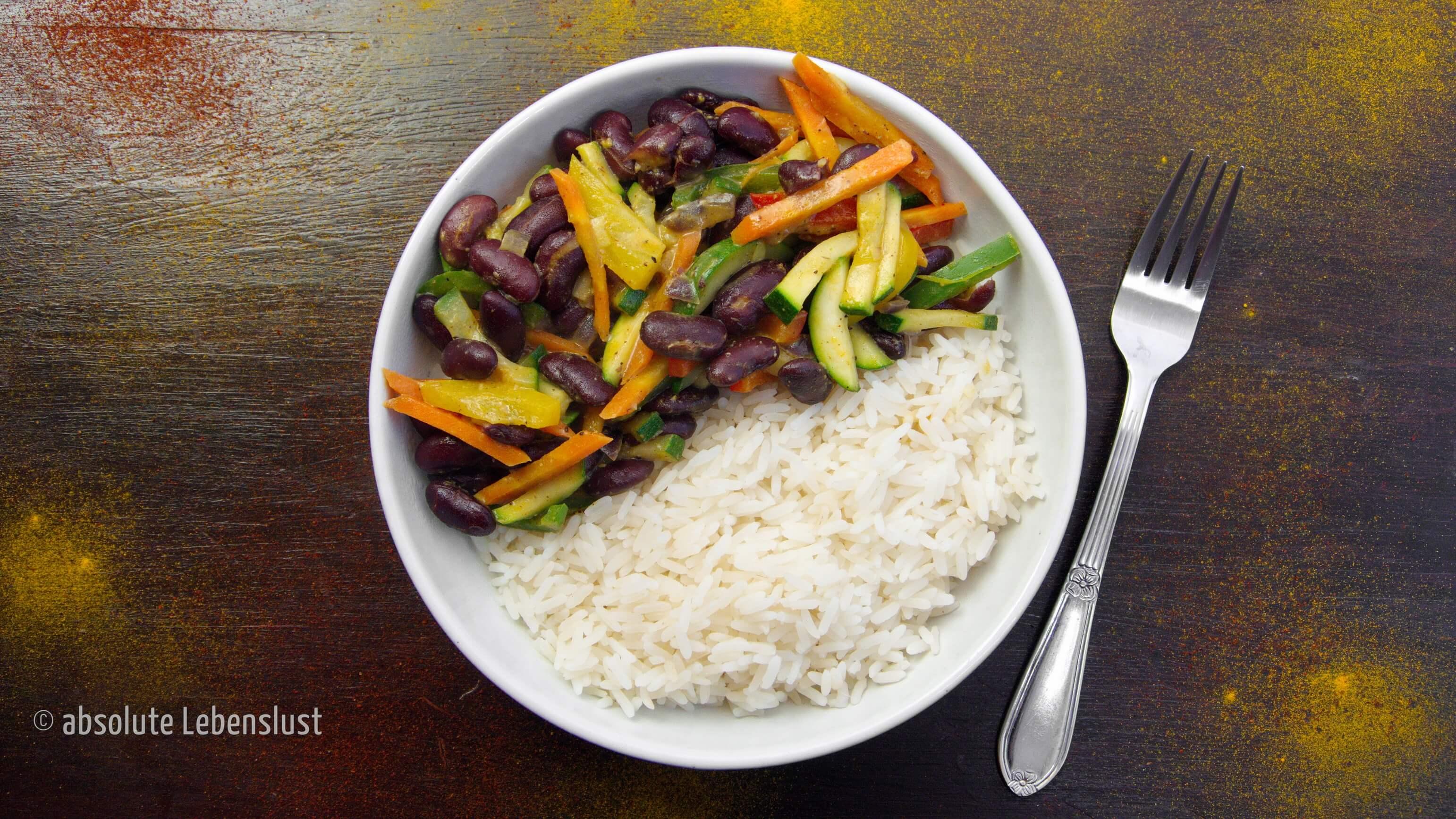 gemüsepfanne rezept, rezepte mit reis, resteverwertung, was koche ich heute, vegetarisch, vegan