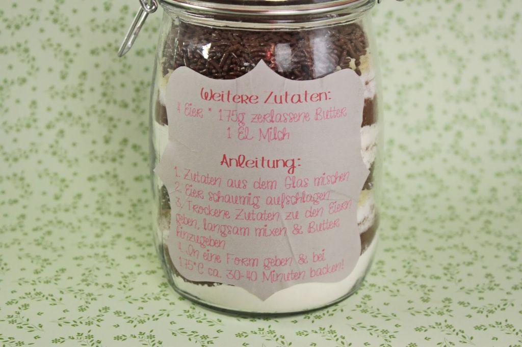 geschenke selber machen, brownie backmischung, rezept, selber machen, backmischung, diy geschenkideen, do it yourself geschenke