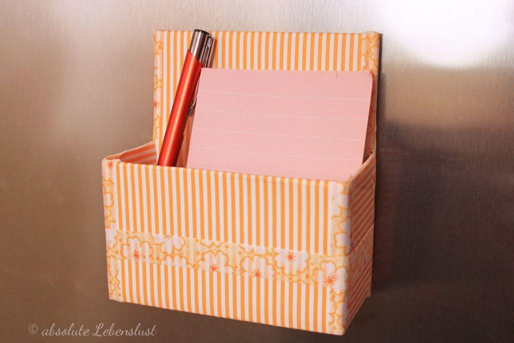 geschenke selber machen, weihnachtsgeschenke selber machen, geschenkideen, für frauen, magnetbox, stiftehalter magnet