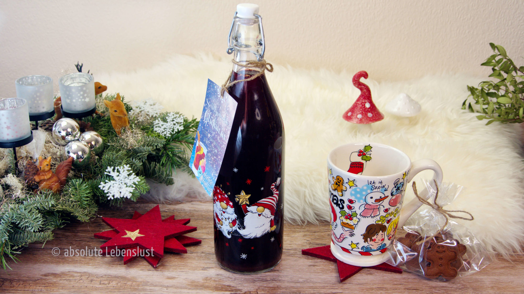 glühwein selber machen, geschenke aus der küche, weihnachtsgeschenke selber machen, selbstgemachter glühwein, weihnachtsmarkt rezepte