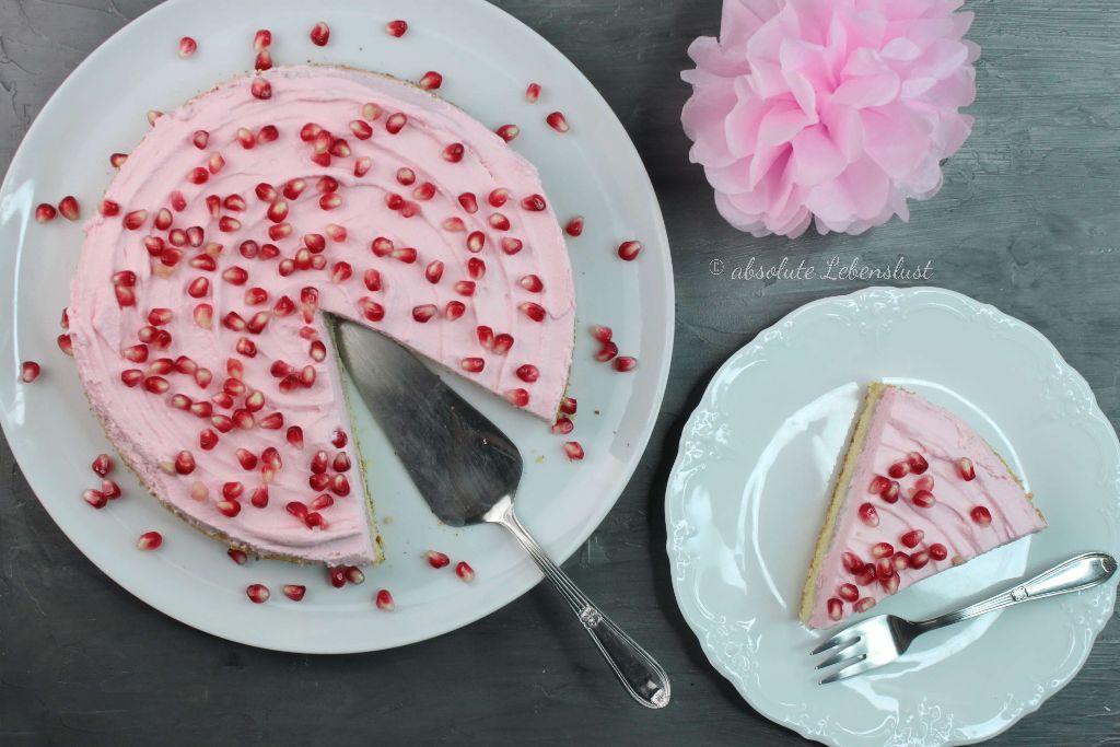 granatapfel kuchen, vanillekuchen mit obst, vanillekuchen mit früchten, einfach und schnell, vanillekuchen