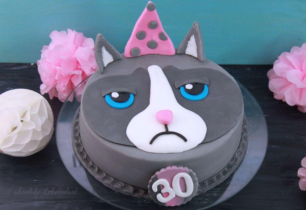 grumpy cat torte, grumpy cat cake, geburtstagstorte, backen, rezept, selber machen, 30, 30. geburtstag, geburtstagstorte, für männer, für frauen, geburtstagstorte, fondant, motivtorte