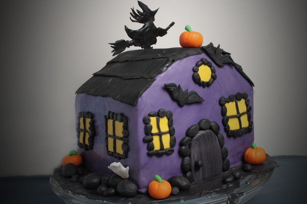 +, halloween essen, halloween torte, 3d motivtorte, für halloween, rezepte, backen, torte, gruselhaus torte, hexenhaus torte, halloween rezepte