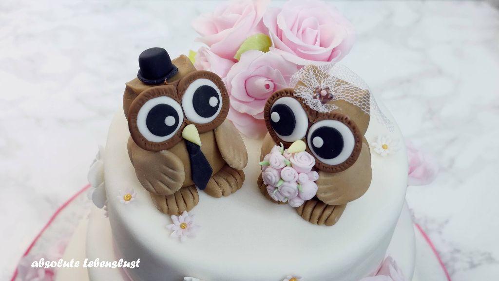 hochzeitstorte backen, hochzeitstorte selber machen, eulen hochzeitstorte, owl cake, owl, wedding cake, weddingcake, ideas