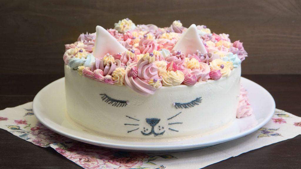 katzen torte, geburtstagstorte backen, nusstorte, nuss nougat torte, backen, rezept, selber machen, kindergeburtstag, für kinder, ohne fondant, buttercreme torte, dekorieren, rezept, eifnach