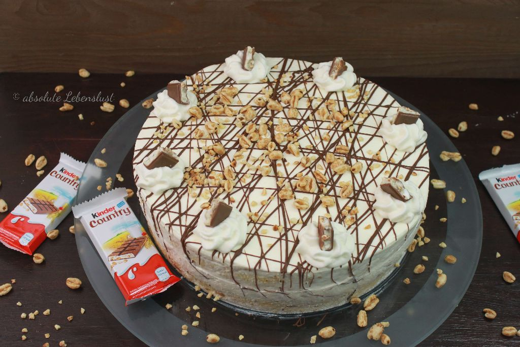 kinder country torte selber machen, kinder country torte backen, kinder country selber machen, backen, torten, kinder country