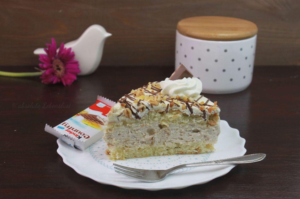 kinder country torte, torten rezepte, mit bild, mit video, torten selber machen, süßigkeiten torte, backen, torten mit süßigkeiten