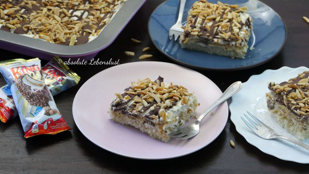 kinder maxi king blechkuchen, maxi king kuchen, süßigkeiten kuchen, blechkuchen ideen, blechkuchen für geburtstag, blechkuchen mit sahne