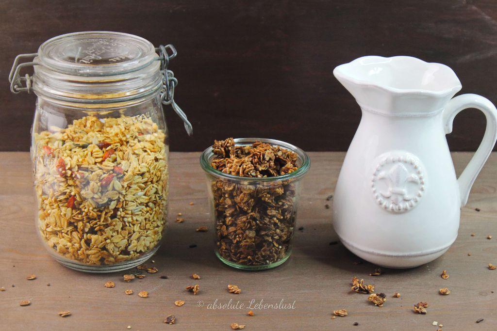 knusperm sli rezept granola selber machen in pur. Black Bedroom Furniture Sets. Home Design Ideas
