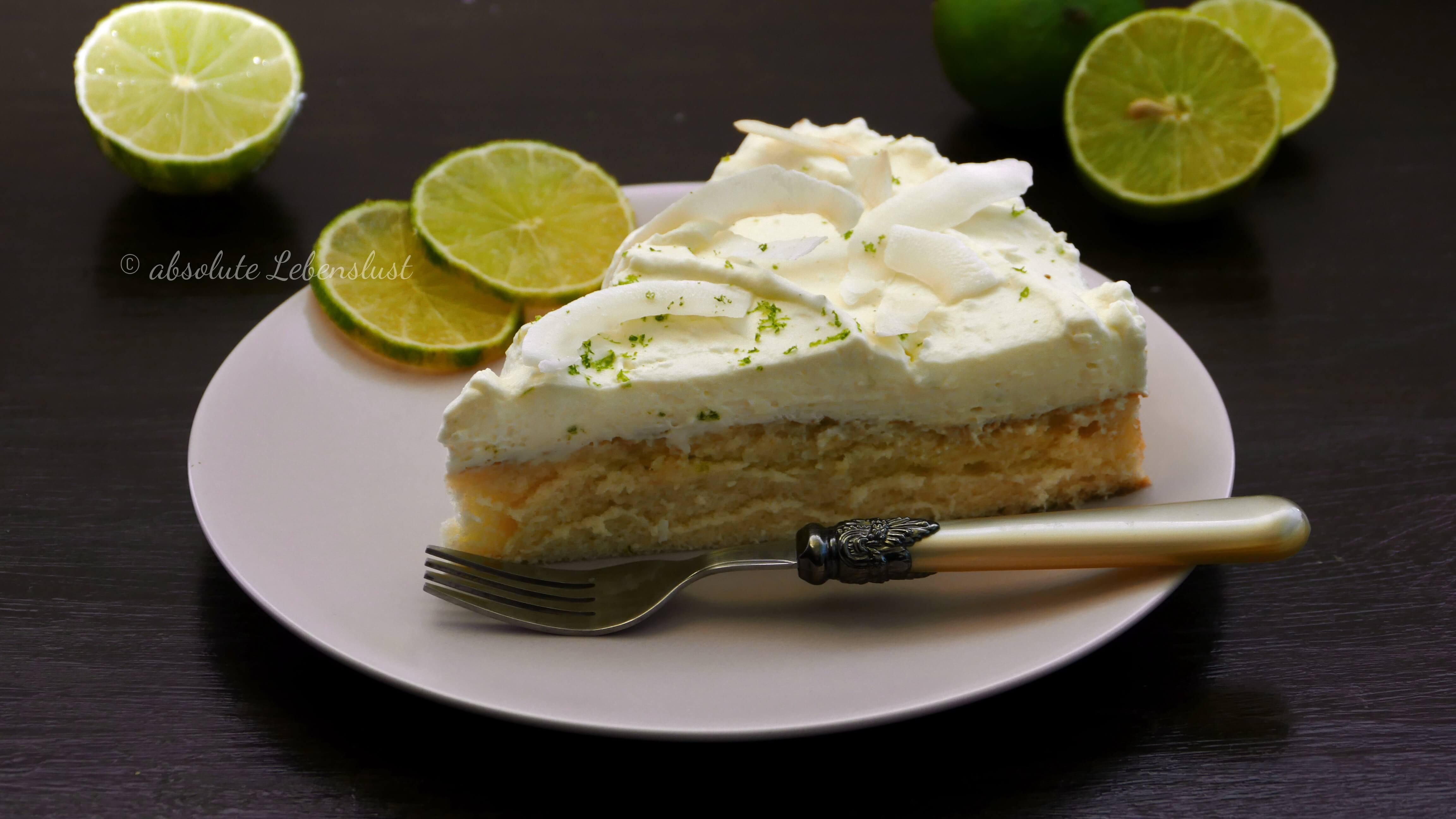 kokos limetten torte, kokos kuchen, limetten torte, limetten creme, limetten kuchen, sommer kuchen, sommerliche kuchen, leichte kuchen, kuchenrezepte