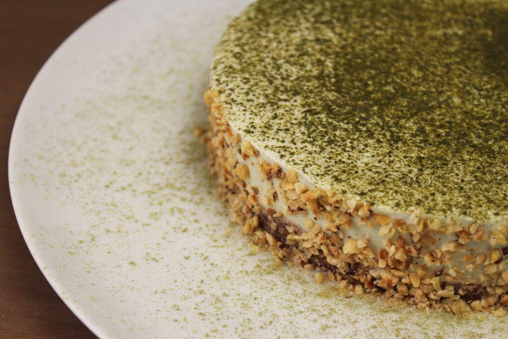 Matcha Cake No Bake Kuchen Ohne Zucker Glutenfrei Absolute