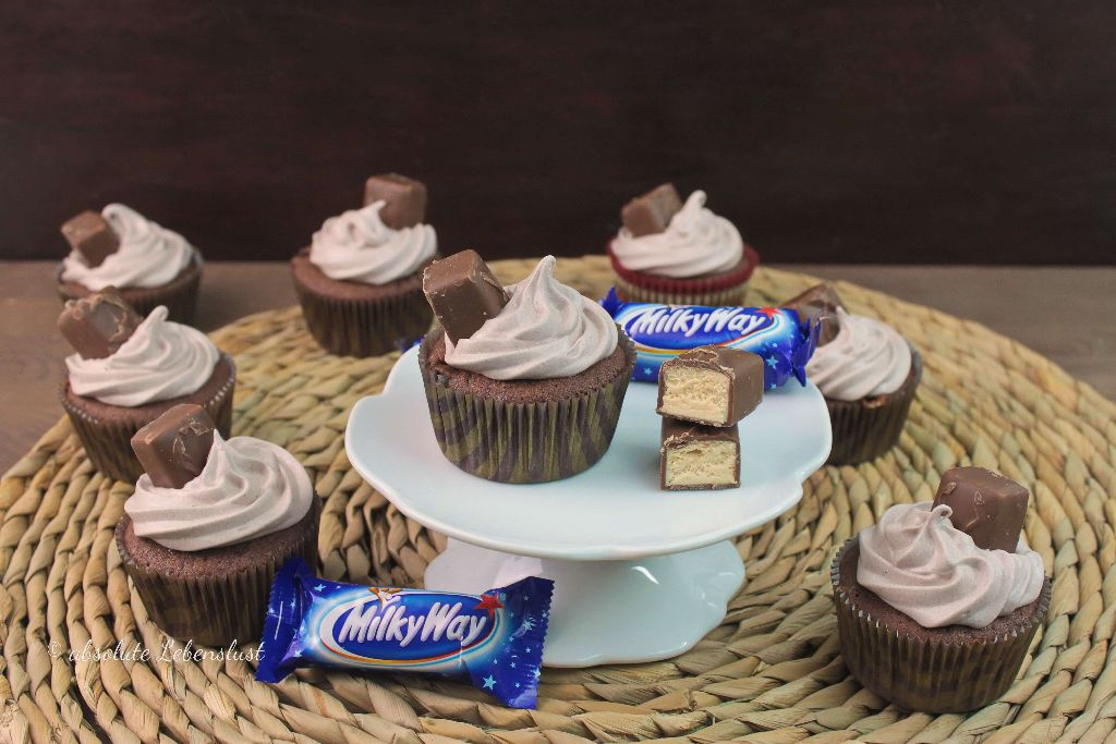 milky way cupcakes, milky way cupcakes backen, milky way rezepte, milky way selber machen, cupcakes backen