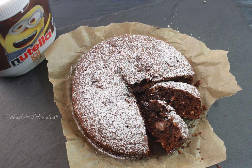 Nutella Kuchen Backen Brownie Nutella Kuchen Schnell Einfach