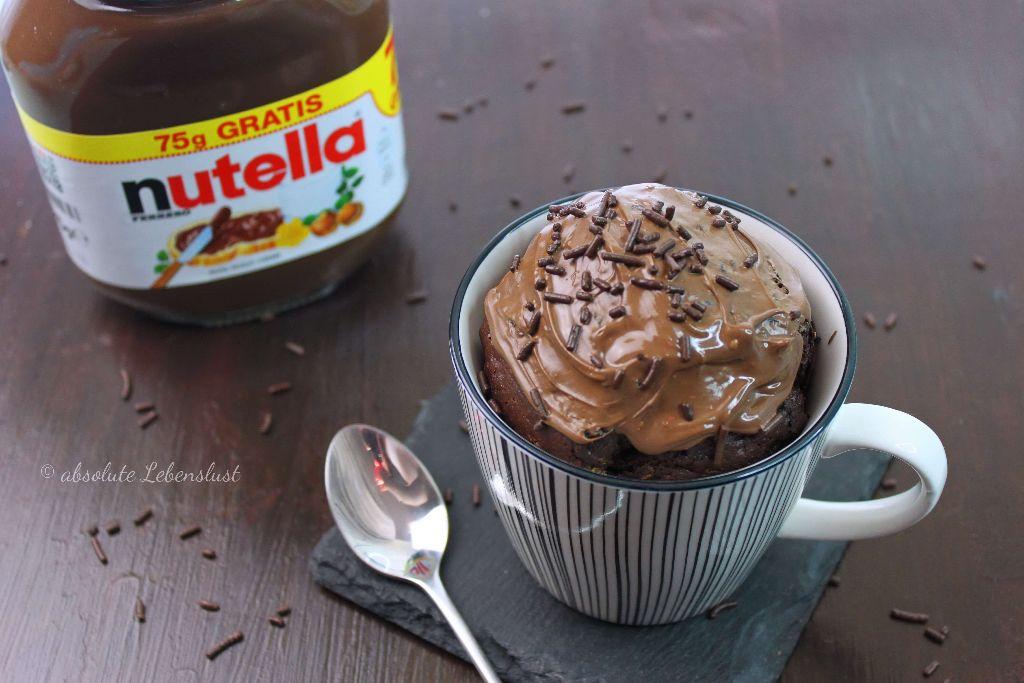 Nutella Tassenkuchen Rezept Fur Backofen Und Mikrowelle Absolute