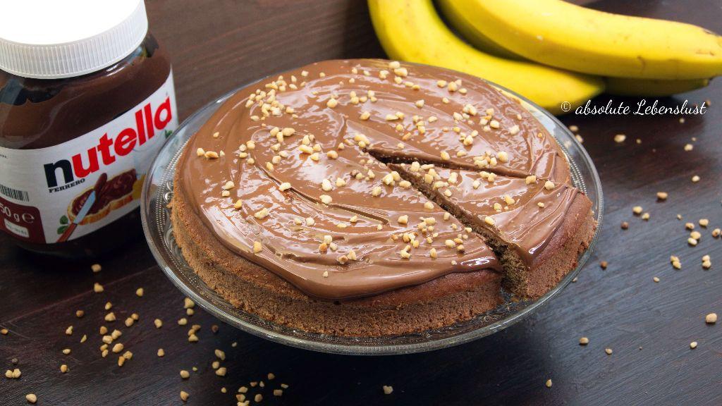 nutella kuchen rezept, nutella kuchen backen, nutella bananen kuchen, backen, rezept, schnelle kuchen, einfache kuchen, kuchen rezepte, einfach