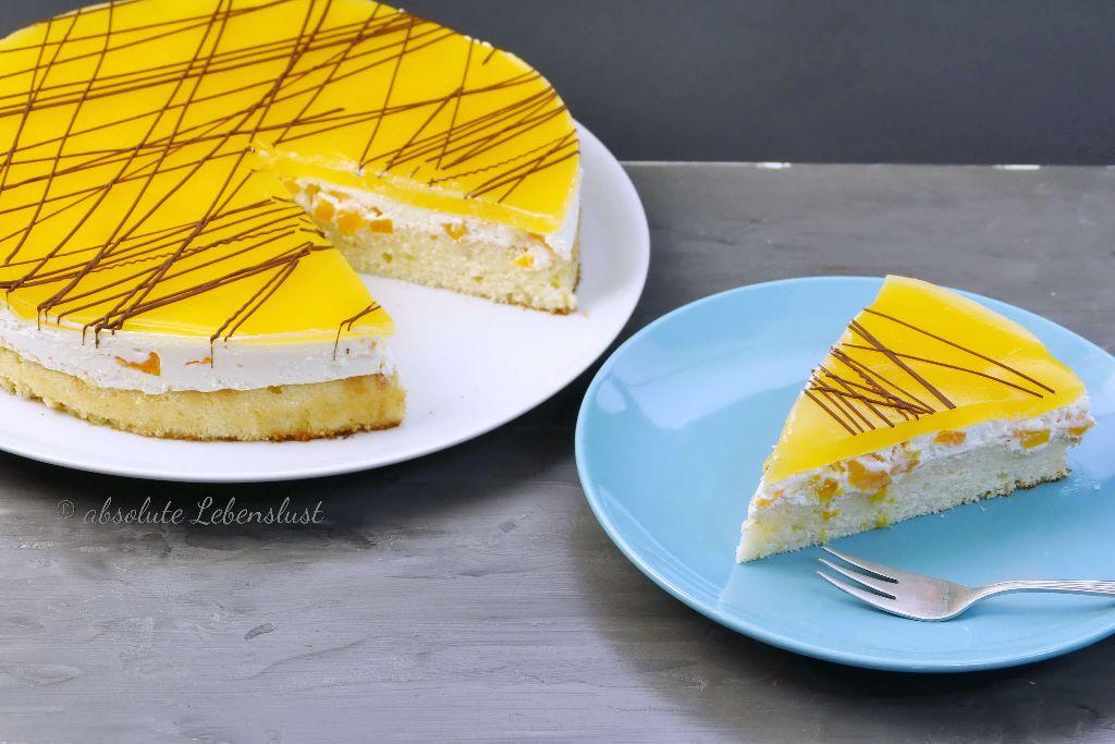 pfirsich maracuja torte rezept, maracuja torte, maracuja kuchen, sommerliche torten, eifnache torten, blechkuchen rezepte