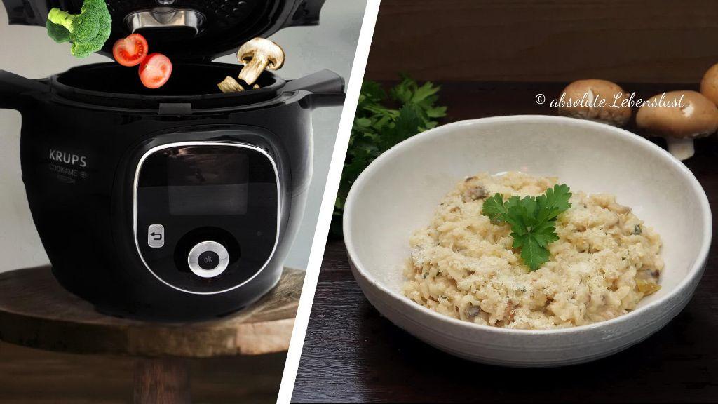 pilzrisotto, schnelle rezepte, cook4me+ connect, krups, cook 4 me, cook4me, connect, bedienung, bedienungsnleitung, test