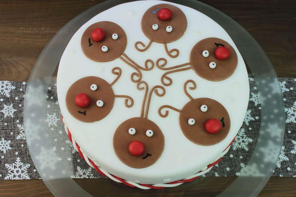 rentier torte backen, motivtorte, weihnachtstorte backen, weihnachtstorte selber machen, torten für weihnachten, weihnachtliche torten, mit bild, mit video