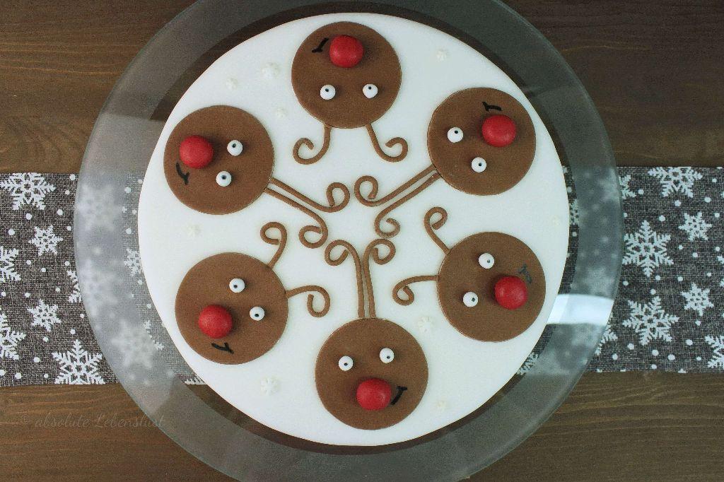 rentier torte, reindeer cake, fondant torte, für weihnachten, weihnachtlich, tortenrezepte, mit fondant, motivtorten, rotweintorte backen, backen, selber machen, rezepte