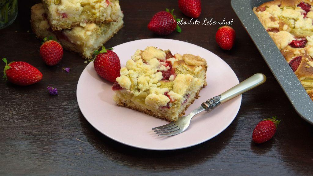 rhabarberkuchen rezept, erdbeer rhabarberkuchen, erdbeer rhabarber kuchen, hefeteig, rezept, backen, selber machen, rhabarberkuchen