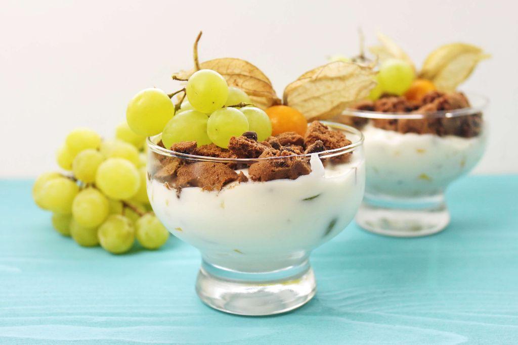 schoko quarkspeise, cookie dessert, quark dessert, quarkspeise selber machen, dessert selber machen, nachtisch rezepte, dessert im glas