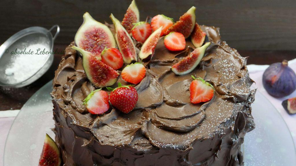 schoko torte rezept, torte ohne fondant, backen, ohne fondant, backen, rezept, selber machen, schnelle torten, mit obst, mit früchten