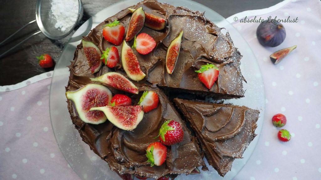schokotorte, torte mit früchten dekorieren, torten ohne fondant dekorieren, torten selber machen, mit bild, mit video