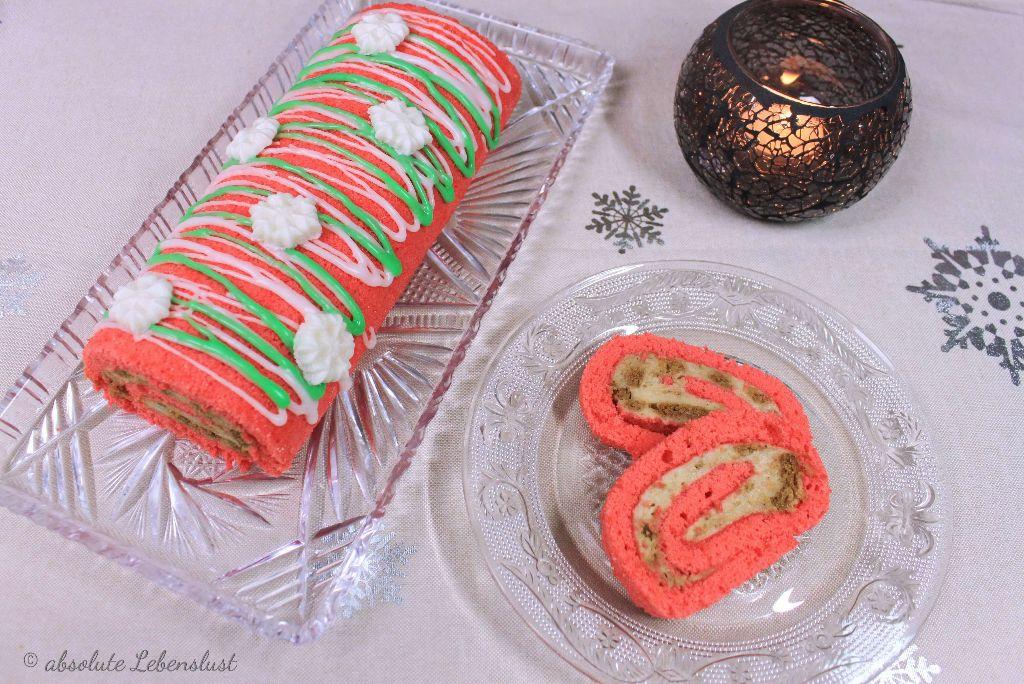 spekulatius kuchen backen, kuchen backen, spekulatius rezept, biskuitrolle backen, biskuitrolle, motiv, weihnachten, weihnachtskuchen