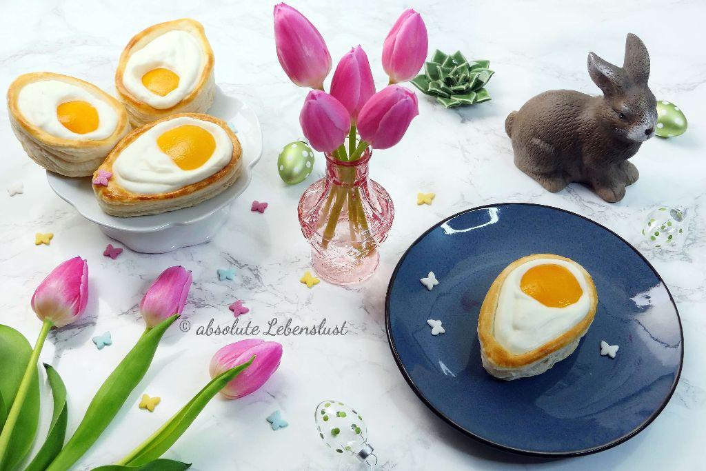 spiegelei kuchen, spiegelei kuchen blätterteig, nachtisch rezepte, nachtisch selber machen, rezepte backen, backen zu ostern