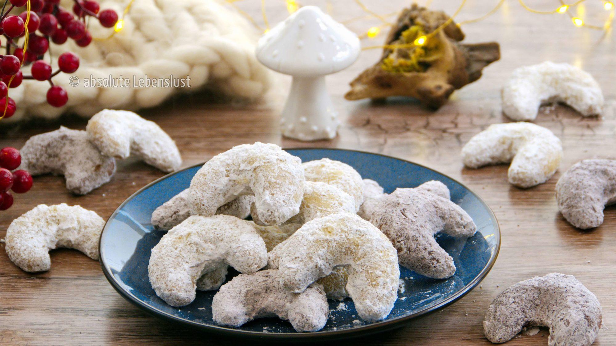 vanillekipferl, rezept, backen, selber backen, selber machen, einfach, schokokipferl, vanille und schokokipferl