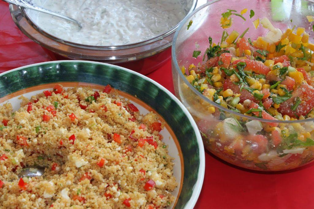 vegetarisch grillen, couscous salat, mais salat, salat rezepte, salat ideen, salate zum grillen, vegetarische rezepte, rezeptideen, rezept des tages, somemrrezepte, grill rezepte, salate