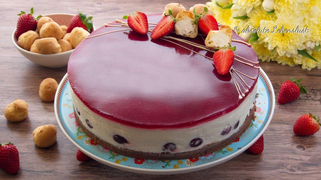 windbeuteltorte, windbeutel torte, backen, rezept, selber machen, joghurt füllung, joghurt torte, leichte sommer torte, sommerkuchen, sommertorten